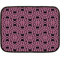Triangle Knot Pink And Black Fabric Fleece Blanket (mini)