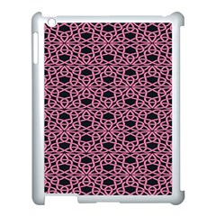 Triangle Knot Pink And Black Fabric Apple Ipad 3/4 Case (white) by BangZart