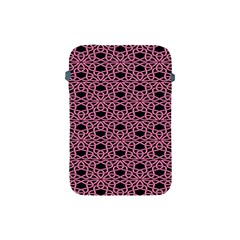 Triangle Knot Pink And Black Fabric Apple Ipad Mini Protective Soft Cases by BangZart