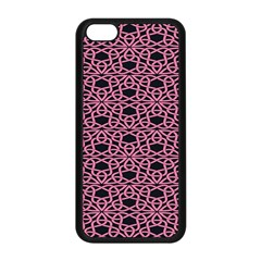 Triangle Knot Pink And Black Fabric Apple Iphone 5c Seamless Case (black)