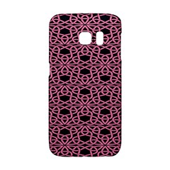 Triangle Knot Pink And Black Fabric Galaxy S6 Edge by BangZart