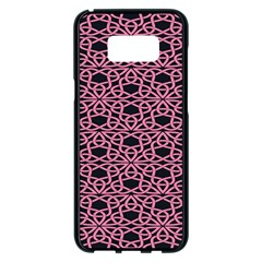 Triangle Knot Pink And Black Fabric Samsung Galaxy S8 Plus Black Seamless Case by BangZart