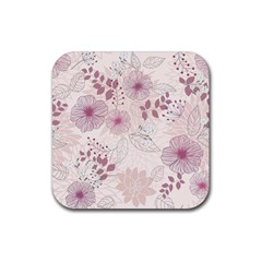 Leaves Pattern Rubber Coaster (square)