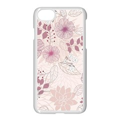 Leaves Pattern Apple Iphone 7 Seamless Case (white) by BangZart