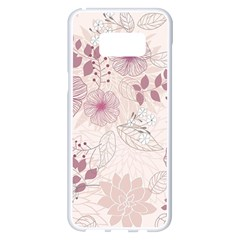 Leaves Pattern Samsung Galaxy S8 Plus White Seamless Case