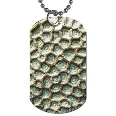 Ocean Pattern Dog Tag (two Sides)