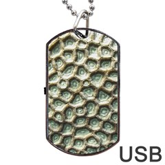 Ocean Pattern Dog Tag Usb Flash (two Sides) by BangZart