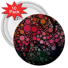 Circle Abstract 3  Buttons (10 Pack)  by BangZart