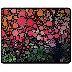 Circle Abstract Double Sided Fleece Blanket (medium)  by BangZart