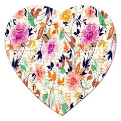 Vector Floral Art Jigsaw Puzzle (heart) by BangZart