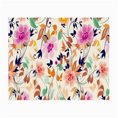 Vector Floral Art Small Glasses Cloth