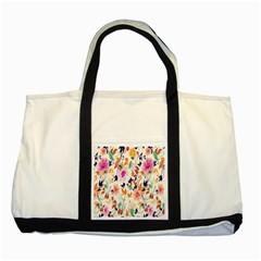 Vector Floral Art Two Tone Tote Bag