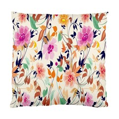 Vector Floral Art Standard Cushion Case (two Sides)