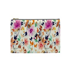 Vector Floral Art Cosmetic Bag (medium)