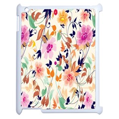 Vector Floral Art Apple Ipad 2 Case (white) by BangZart