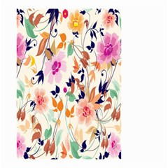 Vector Floral Art Small Garden Flag (two Sides) by BangZart
