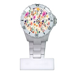 Vector Floral Art Plastic Nurses Watch