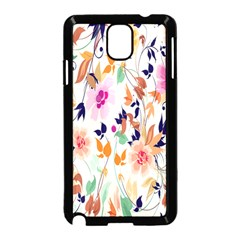 Vector Floral Art Samsung Galaxy Note 3 Neo Hardshell Case (black)
