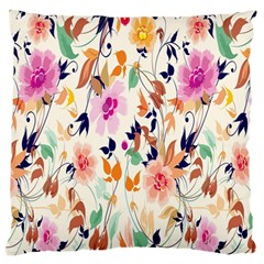 Vector Floral Art Standard Flano Cushion Case (two Sides)
