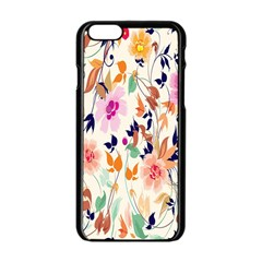 Vector Floral Art Apple Iphone 6/6s Black Enamel Case by BangZart