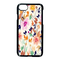Vector Floral Art Apple Iphone 7 Seamless Case (black) by BangZart