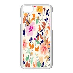 Vector Floral Art Apple Iphone 7 Seamless Case (white) by BangZart