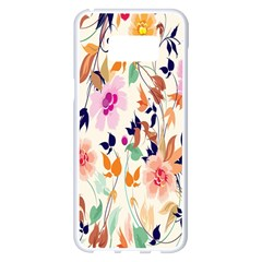Vector Floral Art Samsung Galaxy S8 Plus White Seamless Case by BangZart