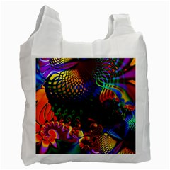 Colored Fractal Recycle Bag (one Side) by BangZart