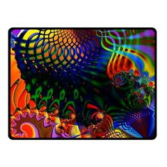Colored Fractal Fleece Blanket (small)
