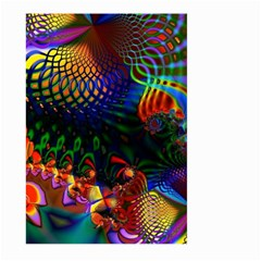 Colored Fractal Large Garden Flag (two Sides) by BangZart