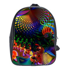Colored Fractal School Bags (xl)  by BangZart