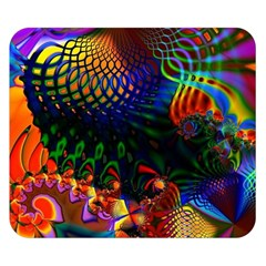 Colored Fractal Double Sided Flano Blanket (small)