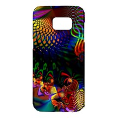 Colored Fractal Samsung Galaxy S7 Edge Hardshell Case