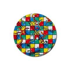 Snakes And Ladders Rubber Round Coaster (4 Pack)