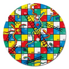 Snakes And Ladders Magnet 5  (round)