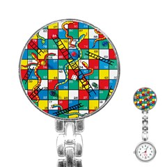 Snakes And Ladders Stainless Steel Nurses Watch