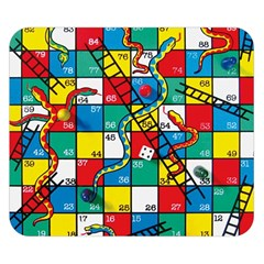 Snakes And Ladders Double Sided Flano Blanket (small)