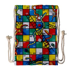 Snakes And Ladders Drawstring Bag (large)