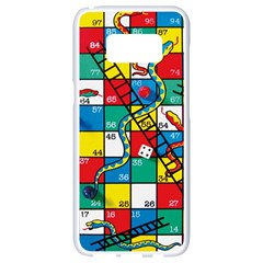 Snakes And Ladders Samsung Galaxy S8 White Seamless Case by BangZart
