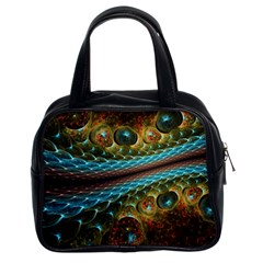 Fractal Snake Skin Classic Handbags (2 Sides) by BangZart