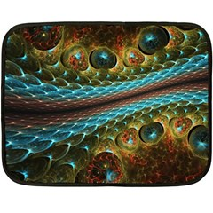 Fractal Snake Skin Fleece Blanket (mini)