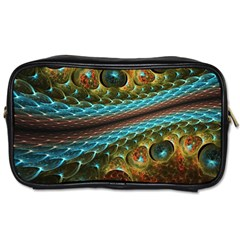 Fractal Snake Skin Toiletries Bags 2 Side