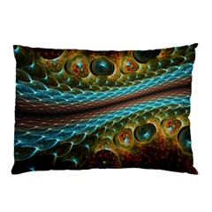 Fractal Snake Skin Pillow Case (two Sides)