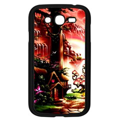Fantasy Art Story Lodge Girl Rabbits Flowers Samsung Galaxy Grand Duos I9082 Case (black)