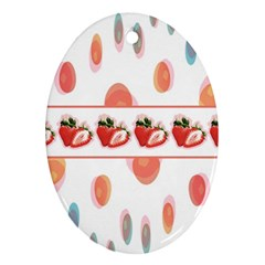 Strawberries Ornament (oval) by SuperPatterns