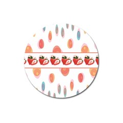 Strawberries Magnet 3  (round) by SuperPatterns