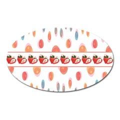 Strawberries Oval Magnet by SuperPatterns