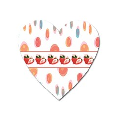 Strawberries Heart Magnet by SuperPatterns