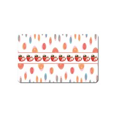 Strawberries Magnet (name Card) by SuperPatterns