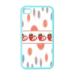 Strawberries Apple Iphone 4 Case (color) by SuperPatterns